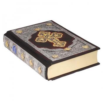 БИБЛИЯ. Книги Священного Писания Ветхого и Нового Завета. Канонические. В русском переводе с параллельными местами (кожа) (скань) 1